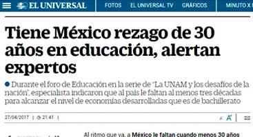 Tiene México rezago de 30 años en educación, advierten expertos