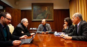 Comisión de Autoevaluación recibió visita del director de Evaluación de la UNAM