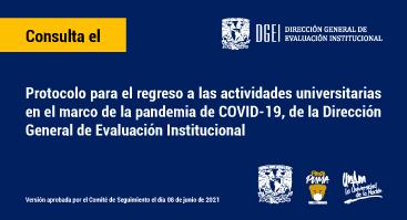 Protocolo de regreso seguro a las actividades universitarias